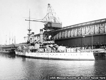 USS Massachusetts at Boston Naval Yard